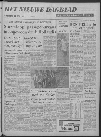 Nieuwe Schiedamsche Courant 1962-07-26