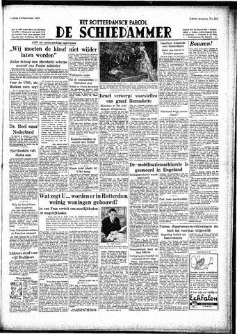 Rotterdamsch Parool / De Schiedammer 1948-09-24