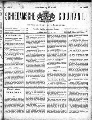 Schiedamsche Courant 1883-04-19