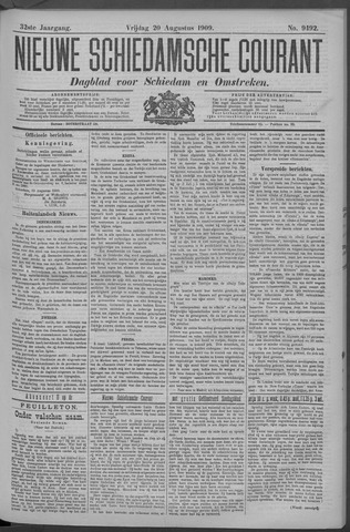 Nieuwe Schiedamsche Courant 1909-08-20