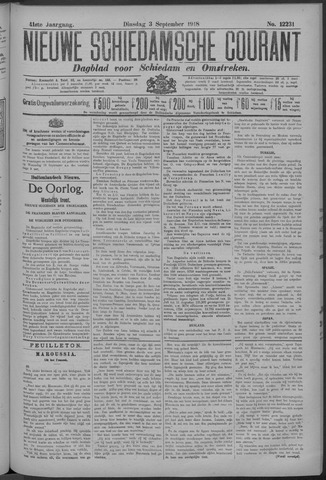 Nieuwe Schiedamsche Courant 1918-09-03
