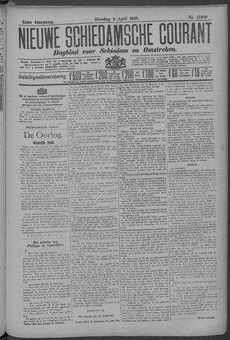 Nieuwe Schiedamsche Courant 1918-04-09