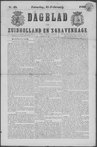 Dagblad van Zuid-Holland 1860-02-25