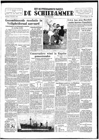 Rotterdamsch Parool / De Schiedammer 1947-11-03