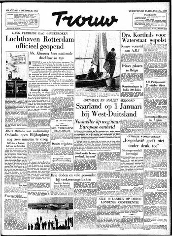 Trouw / De Rotterdammer 1956-10-01
