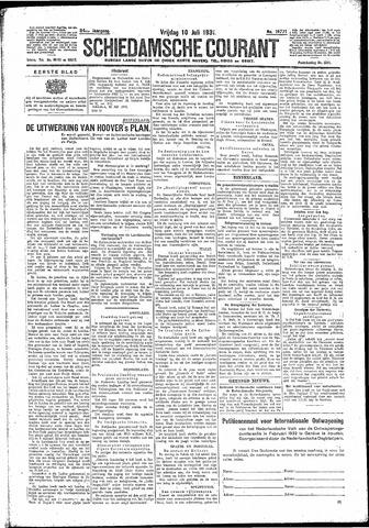 Schiedamsche Courant 1931-07-10