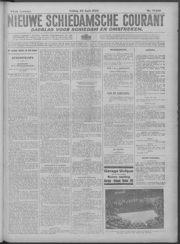 Nieuwe Schiedamsche Courant 1929-04-26