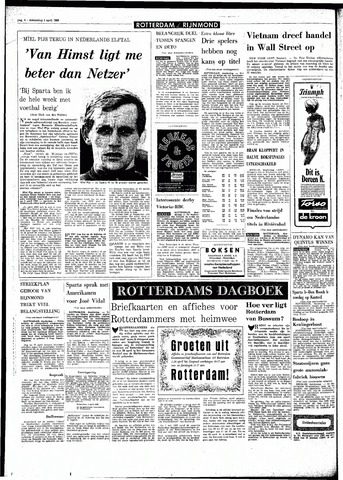 Rotterdamsch Parool / De Schiedammer 1968-04-04