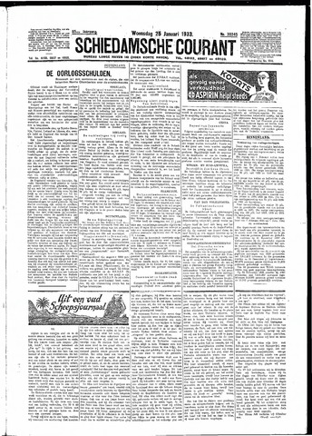 Schiedamsche Courant 1933-01-25