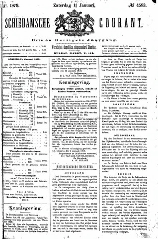 Schiedamsche Courant 1879-01-11