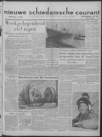 Nieuwe Schiedamsche Courant 1958-04-09