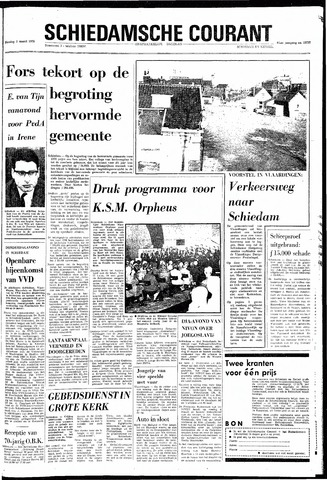 Rotterdamsch Nieuwsblad / Schiedamsche Courant / Rotterdams Dagblad / Waterweg / Algemeen Dagblad 1970-03-03