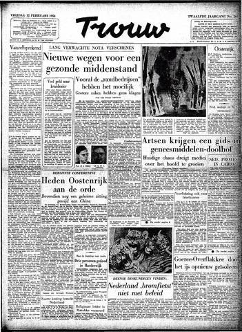 Trouw / De Rotterdammer 1954-02-12