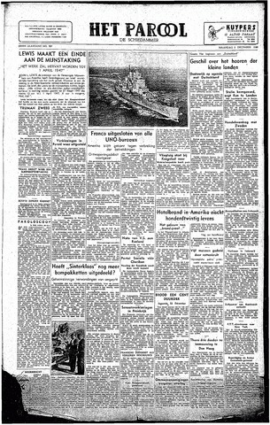 Rotterdamsch Parool / De Schiedammer 1946-12-09