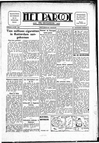 Rotterdamsch Parool / De Schiedammer 1945-05-29