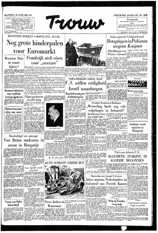 Trouw / De Rotterdammer 1957-01-28