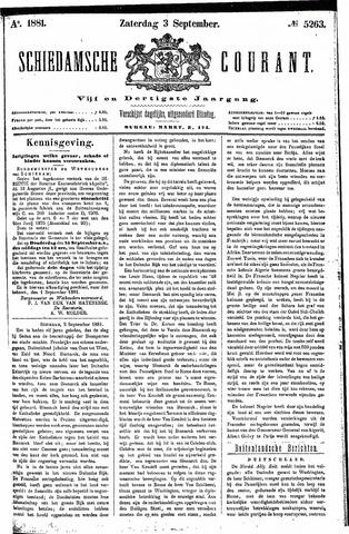 Schiedamsche Courant 1881-09-03