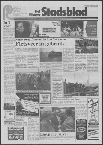Het Nieuwe Stadsblad 1982-10-06
