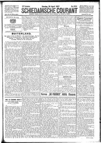 Schiedamsche Courant 1927-04-26