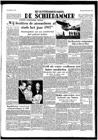 Rotterdamsch Parool / De Schiedammer 1949-09-26