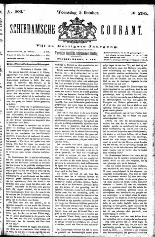 Schiedamsche Courant 1881-10-05