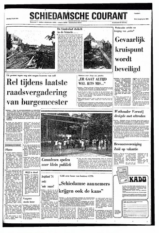 Rotterdamsch Nieuwsblad / Schiedamsche Courant / Rotterdams Dagblad / Waterweg / Algemeen Dagblad 1974-06-25