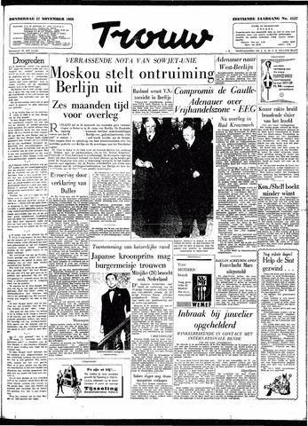Trouw / De Rotterdammer 1958-11-27