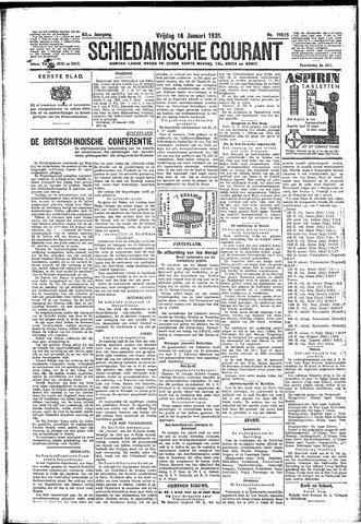 Schiedamsche Courant 1931-01-16