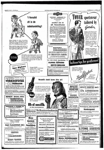 Rotterdamsch Nieuwsblad / Schiedamsche Courant / Rotterdams Dagblad / Waterweg / Algemeen Dagblad 1953-04-11