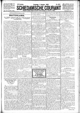 Schiedamsche Courant 1927-10-01