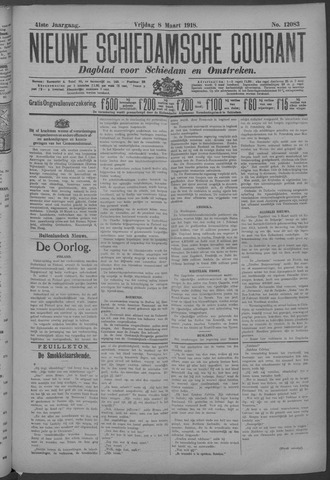 Nieuwe Schiedamsche Courant 1918-03-08