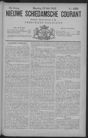 Nieuwe Schiedamsche Courant 1892-07-19