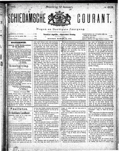 Schiedamsche Courant 1885-01-12