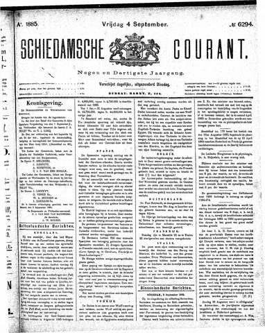 Schiedamsche Courant 1885-09-04