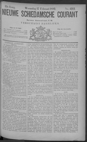 Nieuwe Schiedamsche Courant 1892-02-17