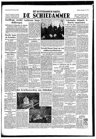 Rotterdamsch Parool / De Schiedammer 1948-11-25