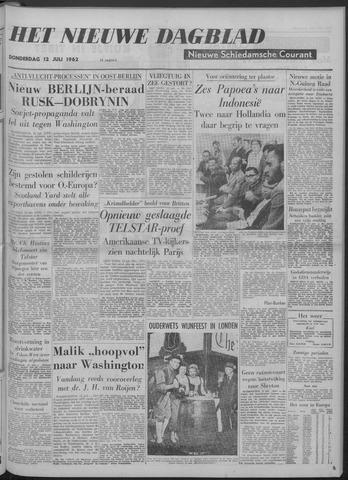 Nieuwe Schiedamsche Courant 1962-07-12