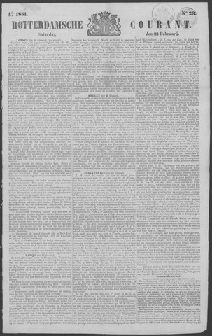 Rotterdamse Courant 1851-02-22