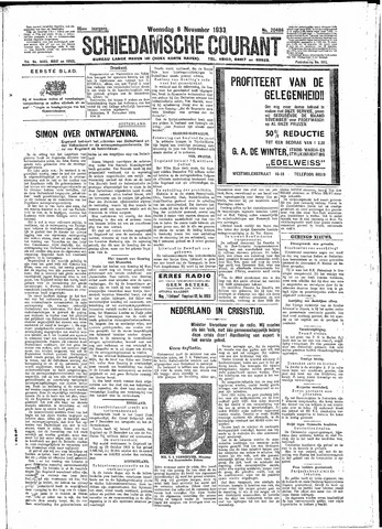 Schiedamsche Courant 1933-11-08