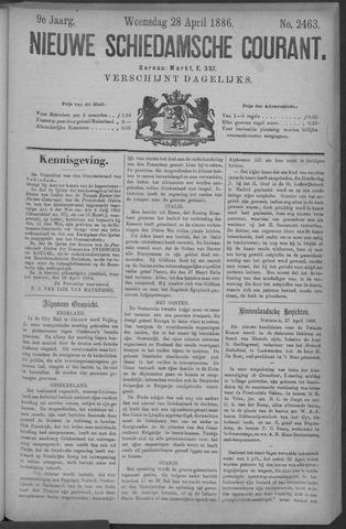 Nieuwe Schiedamsche Courant 1886-04-28