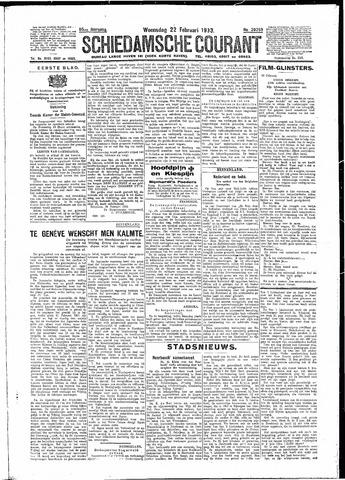 Schiedamsche Courant 1933-02-22