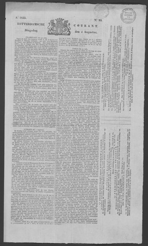 Rotterdamse Courant 1835-08-04