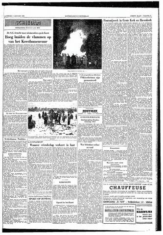 Rotterdamsch Nieuwsblad / Schiedamsche Courant / Rotterdams Dagblad / Waterweg / Algemeen Dagblad 1953-01-03