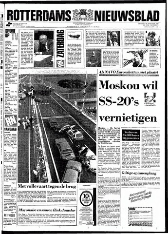 Rotterdamsch Nieuwsblad / Schiedamsche Courant / Rotterdams Dagblad / Waterweg / Algemeen Dagblad 1983-08-27