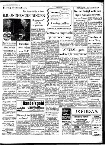 Rotterdamsch Parool / De Schiedammer 1963-09-12