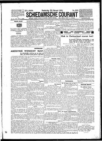 Schiedamsche Courant 1935-02-28