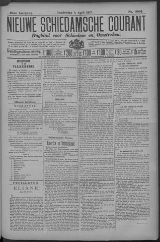 Nieuwe Schiedamsche Courant 1917-04-05