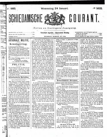 Schiedamsche Courant 1883-01-24