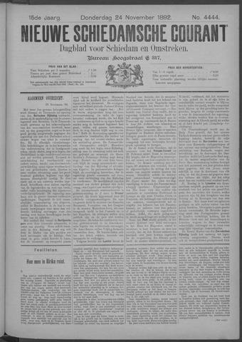 Nieuwe Schiedamsche Courant 1892-11-24
