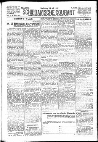 Schiedamsche Courant 1931-07-30